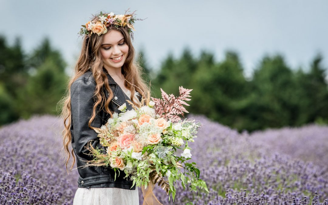 Wedding Inspiration Photoshoot at The Cotswold Lavender Fields